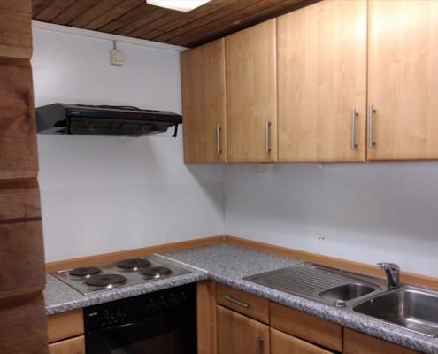 Küche in der Angelhütte